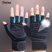 Tnine Best price Workout Exercise Gloves Weightlifting Fitness Crossfit Body building Gloves Men/Wome Great service Gloves Wrist(China)