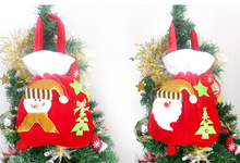 4pcs Gold Velvet Santa Claus Gift Bags Candy Portable Bag Christmas Ornament Christmas Tree Decoration for Home