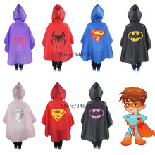 Raincoat for Kids Rain Coat Superman Batman Spiderman Rainwear Boys Girls Waterproof Poncho for Children Rainsuit Raincoat YY300