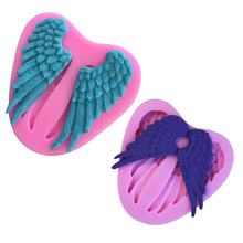 Angel Wings Fondant Silicone Mold DIY Baking Kitchen Tools Cake Cookies Pastry Chocolate Decor Cooking Cozinha Gummy Candy(China)