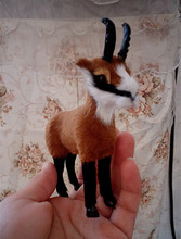 about 11x10cm sheep antelope toy polyethylene & furs handicraft home Decoration birthday gift k0435(China)