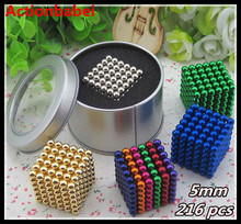 New 5mm 216 pcs Magic Magnet Magnetic DIY Beads Puzz Balls 3D Magic Various colors to choose(China)