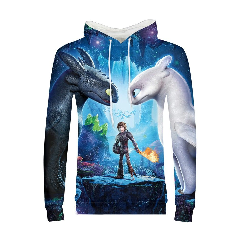 How To Train Your Dragon Hoodie Sweatshirt Men Long Sleeve Clothes Youth Male Fashion Hoodies Coat Tops Hip Hop Pullovers Mens