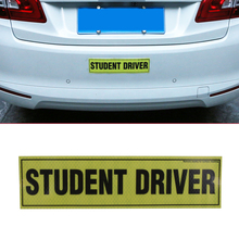 1PC Removable Magnetic Student Driver Reflective Vinyl Decal funny bumper stickers Magnetic Vehicle Car Sign Sticker #SGB-2-1