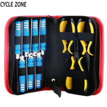 CYCLE ZONE 10 in 1 RC high performance steel Helicopter Screwdriver Pliers Hex Repair Tools Kits Box Set with bag A609(China)