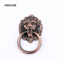 67 * 46MM kitchen cabinet handles and knobs red color antique wardrobe cupboard handle high-grade lion head door handle