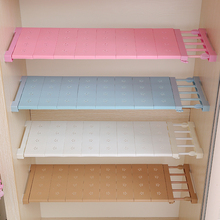 1PCS Wardrobe Storage Layered Separator Kitchen Free Nail Bathroom Shelving Scalable Partition Shelves kitchen Organizer Wardrob