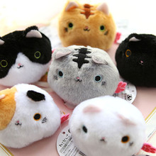Japan peluche  plush toys cartoon Sushi Cat / Kutusita Nyanko cat cosplay mini cute plush dolls 6 styles free shipping