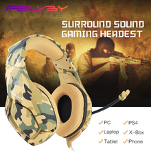K1B new Gaming headphone stereo earphone 3.5mm Adapter Cable headset Tablet PC Headset music Laptop headphone noise canceling(China)