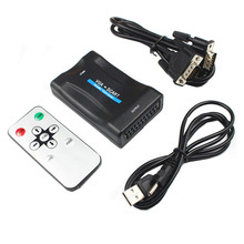 LNOP Laptop VGA to Scart AV video converter with audio VGA in Scart out with power supply