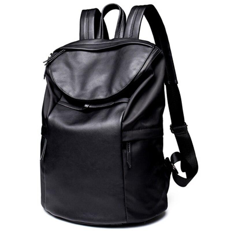 2017 Brand Design Men Backpack Nylon Leather High Quality School Laptop Backpacks Travel Bags Shoulder Bag bagpack Mochila P065<br>