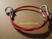 Trailer breakway safety cable - plastic coated ,1 metre, trailer parts(Hong Kong)