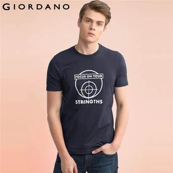 Giordano homens t-shirt da marca clothing t camisa de algodão 2017 t-shirt de manga curta crewneck camiseta letra impressa tshirt