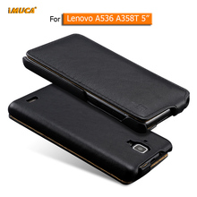 Lenovo A536 A 536 Case Flip Leather Cover for Lenovo a536 phone cases imuca brand mobile phone bag luxury capa(China)