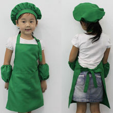 1PC New Cute Kids Child Children Apron Cooking Baking Apron Pink Children's Aprons 8 COLOR Send Randomly #  1122