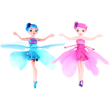 Flying Angel Doll Learning & Education Infrared Induction Control DIY Flying Fairy Dolls Baby toys Xmas girls Gift Random color(China)