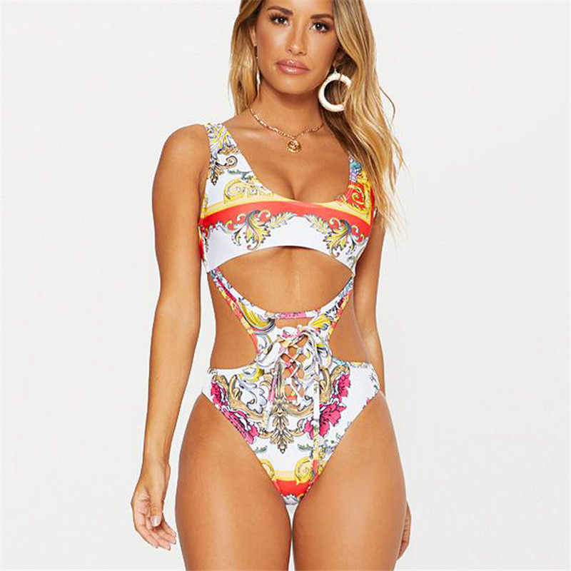 Original Women Bikini Set Floral Bandage Swimsuit Eporn 1