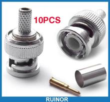 10 Sets 3 Piece RG 58 BNC Male Coaxial Crimp Connector(China)