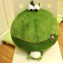 Super cute 1pc 50cm cartoon creative green frogs plush animal hold doll pillow cushion sweet stuffed toy girl baby birthday gift