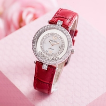 Royal Crown Lady Women's Watch Japan Quartz Hours Clock Fashion Dress Bracelet Leather Luxury Brand Rhinestones Bling CZ 3628