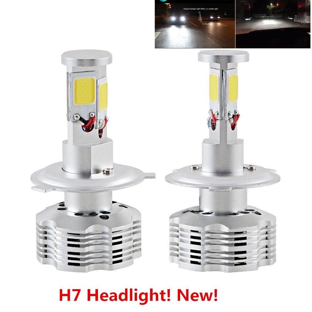 PX26D H7 Car 110W 12000Lm 6000K White LED Headlight Bulbs 4-Sided COB Head Light Led Headlamp Conversion Kit Error Free for cars<br><br>Aliexpress
