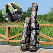 Free Shipping Large Capacity 80/120cm Fishing Bag Camouflage Double Layer Brand High Quality Fishing Rod Bag Fishing Tacklety