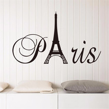 The Eiffel Tower Paris DIY Art Vinyl Wall Sticker Decor Living Room Bedroom Removable Waterproof Mural Decal Homedecor Stickers(China)