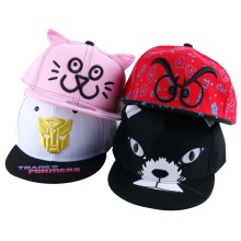 children boy girl beauty mustache style hip hop snapback cap hats wholesale good quality embroidery child brand baseball caps