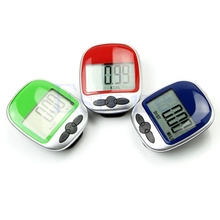 OOTDTY Hot Plastic 4 Digit LCD Display Counter Pocket Clip Digital Pedometer Step Run Distance Calorie Walking(China)