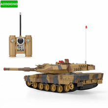 1/24 Scale German Leopard A6 Infrared Fighting RC Battle Tank with Sound and Lights RC Tank Toys
