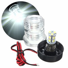 Marine Boat Yacht Navigation Anchor Light 2.6W 13 LED 5050 SMD All Round 360 Degree Vessel Light Pure White Waterproof DC12V(China)