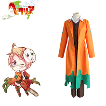 APH America Alfred F. Jones Cosplay Axis Powers Hetalia Orange Costumes Adults Fancy Costume Full Set For Halloween Party