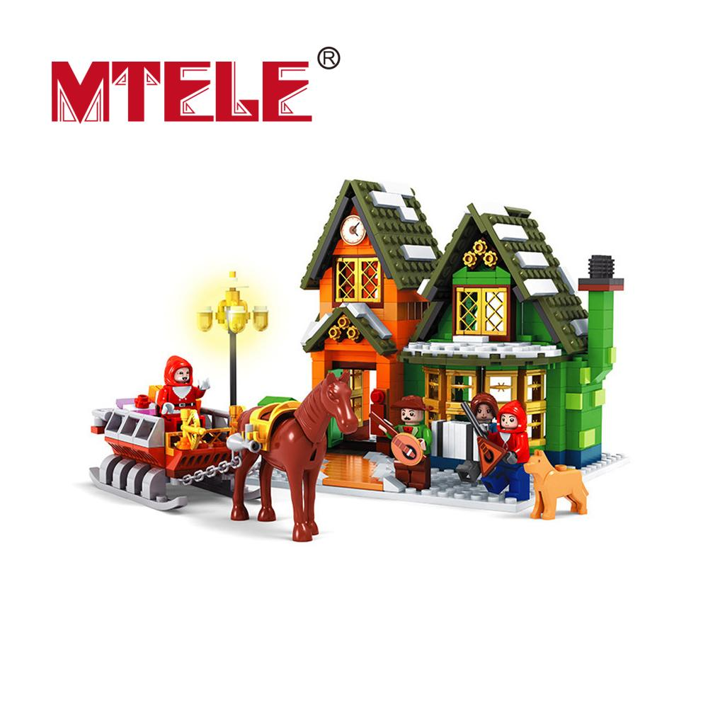 860pcs Alanwhale Winter Village Post Office City Advent Calendar Christmas Model Building Blocks Bricks Toy Compatible With Lego<br><br>Aliexpress