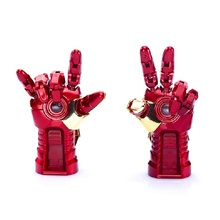 Fashion Avengers Iron Man LED Light 64GB USB Flash 2.0 Memory Drive Stick Pen/Thumb/Car Key Pendrive 128GB 512GB 256GB Gift(China)