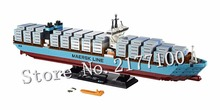 Lepin 22002 1518pcs Technic Series Maersk cargo ship Container ship Model Building Blocks Compatible bricks  10241