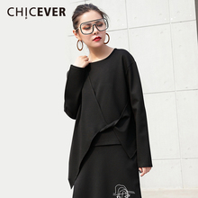 Buy CHICEVER 2018 Spring Irregular Short Women T Shirt Top Long Sleeve Loose Short Women's T shirts Clothes Fashion Casual New for $17.85 in AliExpress store
