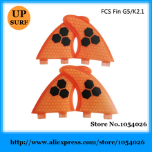 FCS Surfboard Fins Quad Orange Fibre Fins Surf FCS G5+K2.1 Quad Fins Hot Sale Surfboard Quilhas