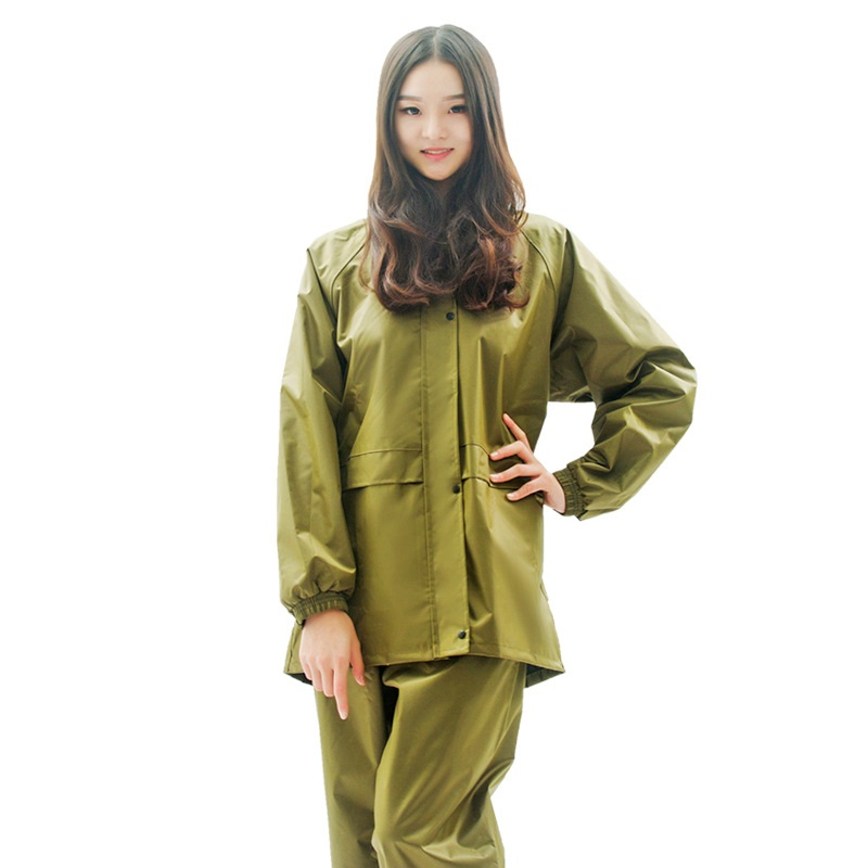 New Outdoor Canvas Yellow Raincoat and Pants Sports Riding Fishing Man Woman 1 Set Waterproof Raincoat Suit Motorcycle Raincoat