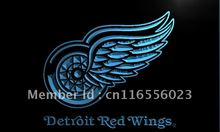 LD086- Detroit Red Wings   LED Neon Light Sign     home decor shop crafts