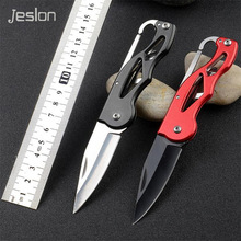 Jeslon Protable Pocket Knife Folding Hunting Camping Tactical Knives Rescue Surrival Key Ring keychain Outdoor Survival Tools