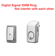 digital signal bell wireless doorbell Waterproof 380 Meter wireless ring,wireless door chime,48 melodies door ring waterproof