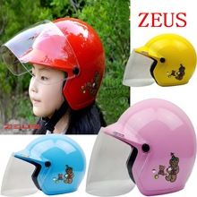 2016 New Taiwan ZEUS children half helmet motorcycle electric bicycle helmets four seasons boys/girls baby safety helmet size S