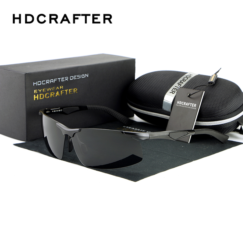 Hot Mens Driving Half-frame Magnesium Alloy Mirror Polarized Sunglasses Fashion Eyewear<br><br>Aliexpress