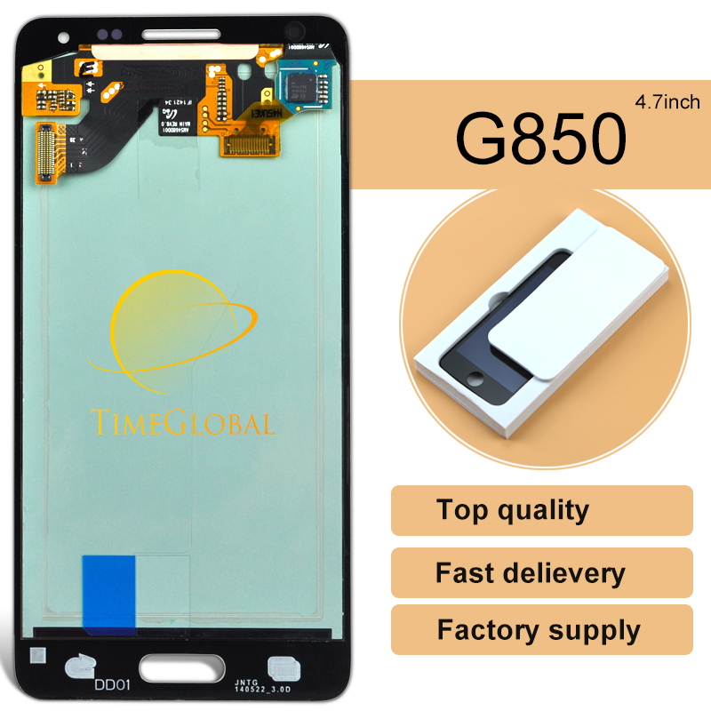 5pcs Free shipping 100% Test Original For samsung Galaxy Alpha G850 G850F G850M lcd Screen assembly-- Golden Silver Grey White<br><br>Aliexpress