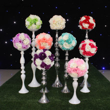 Grace artificial fower rose ball for wedding decoration Hotel store opened decorative flower without candle holder