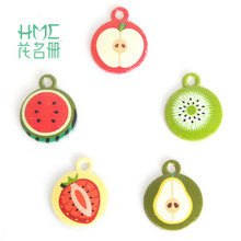 New Enamel Metal Alloy Fruit Charm Pendant for DIY Earring Bracelet Necklace Jewelry Findings Craft Making