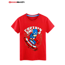 GODODOMAOYI 2016 hots Kids Baby children Super Heroes T shirts Iron Man Avengers Custom tops Captain boys Summer sleeve clothes