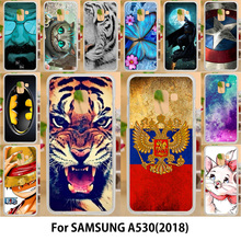 AKABEILA Case For Samsung Galaxy A5 2018 Cases Silicone TPU Covers Duos with dual-SIM card slots A530F A530F/DS Tiger Flags(China)