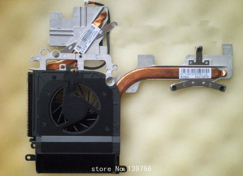 New for HP DV9000 DV9200 DV9300 DV9500 DV9800 INT CPU and graphics card cooling heatsink with fan 434678-001 448016-001(China (Mainland))