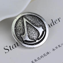 Assassin's Creed logo Brooch Pins Retro Vintage  Badges Cosplay Game Jewelry Assassin Fans gift fashion Dress Accessory